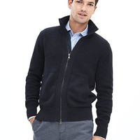 Banana Republic Mens Mixed Gauge Sweater Jacket