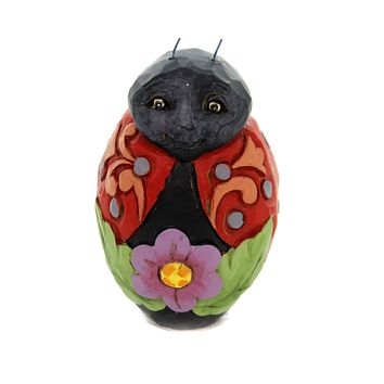 Jim Shore MINI EASTER EGGS Polyresin Hand Painted 6003620 Ladybug