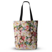 "Dawid Roc ""Pastel Rose Romantic Gifts"" Green Photography Everything Tote Bag"