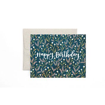 ONE CANOE TWO BIRTHDAY FIELD FLORAL CARD
