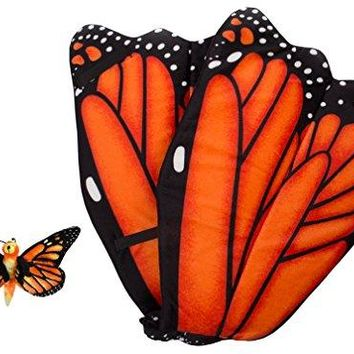Wildlife Tree Plush Orange Monarch Butterfly Wings With Baby Plush Toy Orange Butterfly Bundle For Pretend Play Animals Dressup