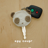 Panda Key Cover Crochet PATTERN, Instant PDF Download