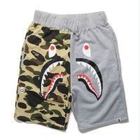 Beach Summer Camouflage Patchwork Casual Pants [10182864391]