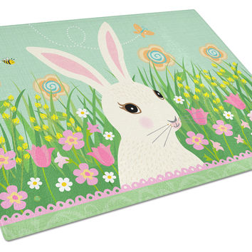 Easter Bunny Rabbit Glass Cutting Board Large VHA3023LCB