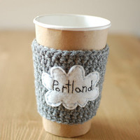 Coffee Cozy, Rainy Cloudy Portland by The Cozy Project