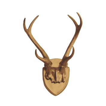 Antler Wall Mount | Deer Antler Rack | Faux Taxidermy | Bronze Resin