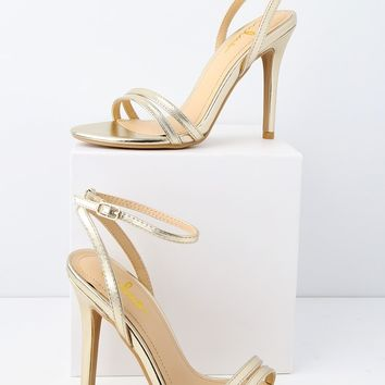 Iggy Champagne Ankle Strap Heels