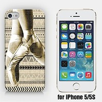 for iPhone 5/5S - Ballet Dancer - Vintage Pattern - Ship from Vietnam - US Registered Brand