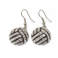 "Crystal ""Bling"" Volleyball Dangle Earrings, Sports, Accessories"