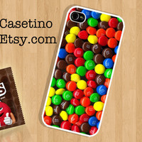 M&M case , Chocolate iPhone Case , iPhone 5 Case , iPhone 4 Case , iphone 4s case , Plastic hard case , milk chocolate