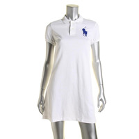 Polo Ralph Lauren Womens Cotton Short Sleeves Shirtdress