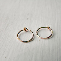 Tragus Hoop Earrings 14k Rose Gold Fill