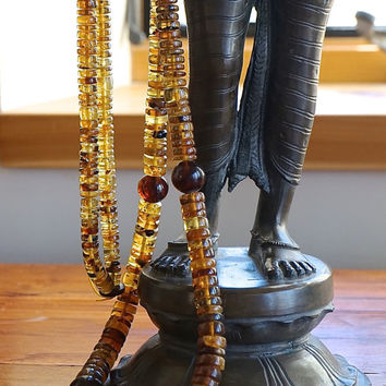 Burmese Amber Tribal Necklace