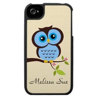 Owl In Tree iPhone 4 Cases from Zazzle.com