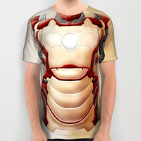 Steampunk Cyborg robot body All Over Print Shirt by Greenlight8