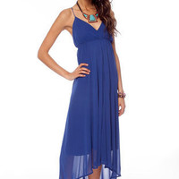 No Crossing Maxi Dress in Blue :: tobi