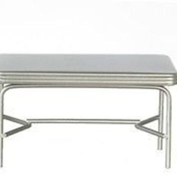 1:12 Scale 1950s Style Table and Chairs, Green #T5934