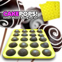 Cake Pops Instant Silicone Baking Pan Set