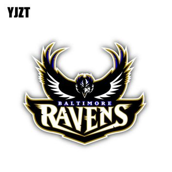 YJZT 12CM*10.1CM Motorcycle Baltimore Ravens Car Sticker Helmet PVC Decal 6-1301