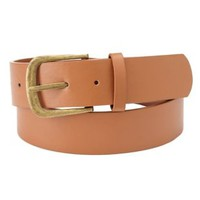 Cognac Combo Thick Faux Leather Belt by Charlotte Russe