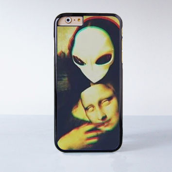 Mona Lisa Alien Plastic Case Cover for Apple iPhone 6S 6S Plus 6 6 Plus 4 4s 5 5s 5c