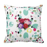 Floral Decorative Throw Pillows For Couch Sofa Bed