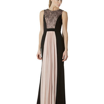 Js Collections Lace Inset Colorblock Gown