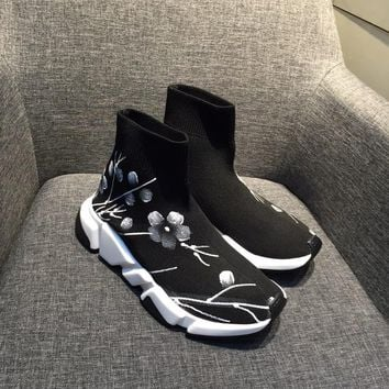 Balenciaga Speed Trainers Stretch Knit Mid Sneakers Style #6 - Best Online Sale