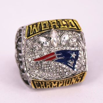 US size 7 to 15! 2016 New England Patriots super bowl 51 world championship rings replica BRADY engraving inside drop shipping
