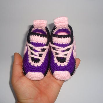 Knitting Pattern For Baby Tennis Shoes : Shop Knitted Baby Slippers on Wanelo