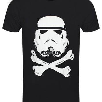 Original Storm Trooper Helmet & Crossbones Men's Black T-Shirt