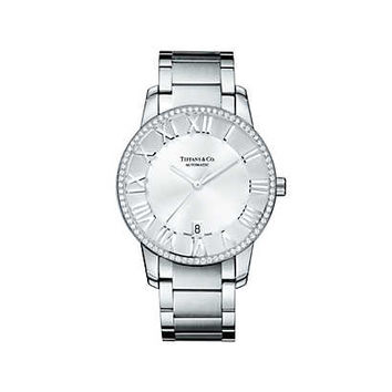 Tiffany & Co. - Atlas® dome watch in stainless steel, mechanical movement.