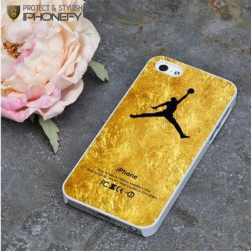 CREYUG7 Michael Jordan Golden Gold Pattern iPhone 5|5S Case|iPhonefy