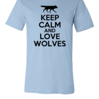 keep calm and love wolves - Unisex T-shirt