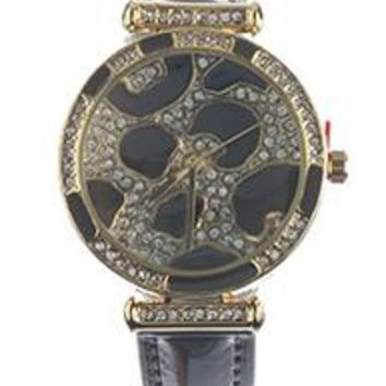 Animal Spot Face Leather Band Fashion Watch