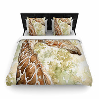 "Wildlife ""Africa 2"" Brown Animals Woven Duvet Cover"