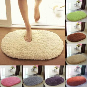 30*50cm Full latex non-slip bottom Mat Bath Shower Rug Absorbent Soft Bathroom Bedroom Floor Bathroom Products New XQ