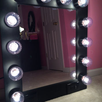 Vanity Mirror With Lights And Plugs : Shop Etsy Vanity Mirrors on Wanelo