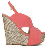 Picture Perfect Wedges - Rose - Hazel & Olive