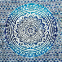 Ombre bed sheet boho mandala, boho tapestries, psychedelic mandala Throw Beach, hippie ethnic style, twin bedsheets Indian home decor 1023