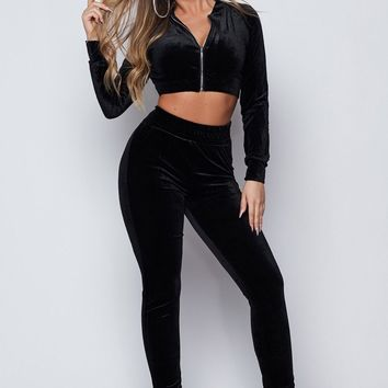 Juicy Velour Two Piece Leisure Track Set