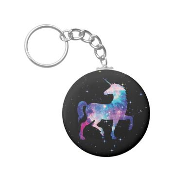 Galaxy Stars Magical Fantasy Unicorn Keychain