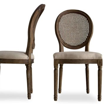 Charlie French Country Dining Chairs, Set of 2