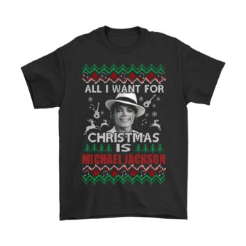 PEAP8HB All I Want For Christmas Is Michael Jackson Shirts