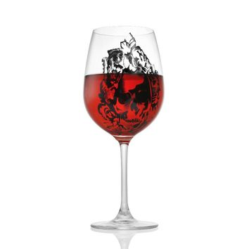1 Pcs Skull Head Cute Drinking Wine Glasses Champagne Cocktail Glass Goblets