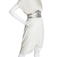 Vintage 80s Tadashi Saks Fifth Avenue White Sequin Cocktail Dress Sz 2 Formal