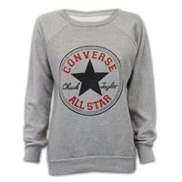 UNVC Womens Stylish Converse Hooded Fleece Lined Sweatshirts