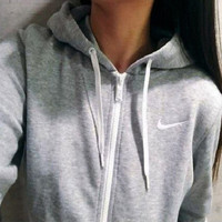 Nike Women Fashion Cardigan Jacket Coat Sweatshirt