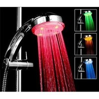 Amazon.com: Bathroom Shower Heads Temperature Controlled Lights 3 Colors LED Light Shower Head: Electronics