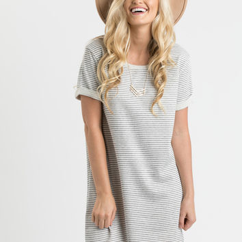 Lena Stripe Shortsleeve Sweater Dress